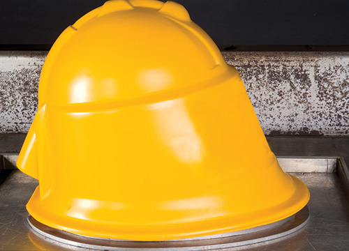 Supreme Visors Scorpion Helmet after moulding
