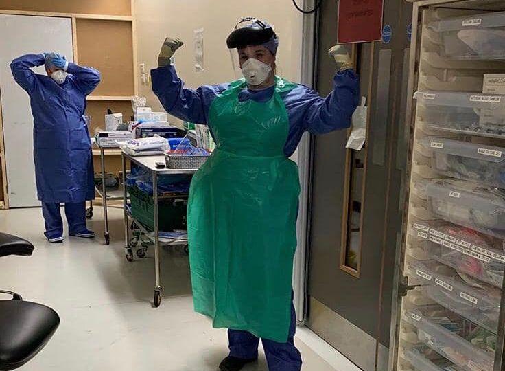 Supreme Visors PPE being used at Arrowe Park Hospital